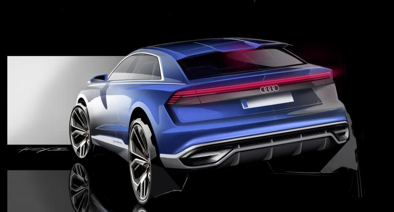 Galerie k článku Audi Q8 plně odhaleno jako koncept, nenažraně se ...