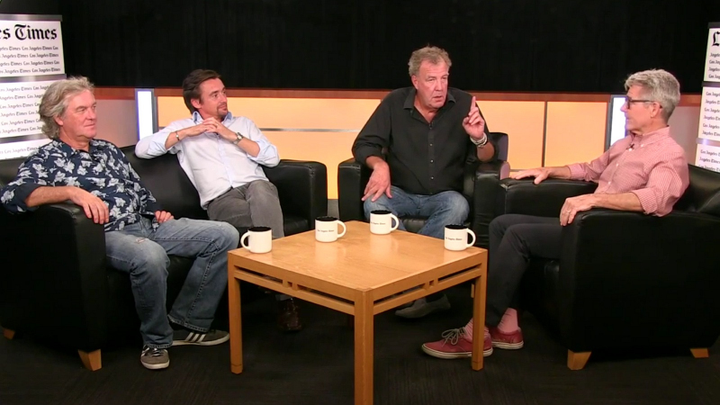 Smůla, The Grand Tour zítra neuvidíme. Ani my a nejspíš ani vy - 2 - Clarkson Hammond May The Grand Tour L A Times 03