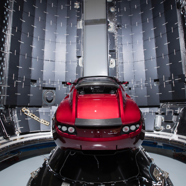 Here's Elon Musk's Tesla Roadster ready for its Mars-bound ...