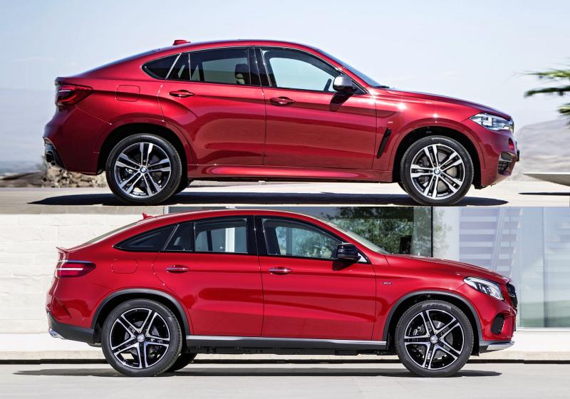 Mercedes gle coupe vs bmw x6 pro vym let vymy len for Mercedes benz gle coupe vs bmw x6